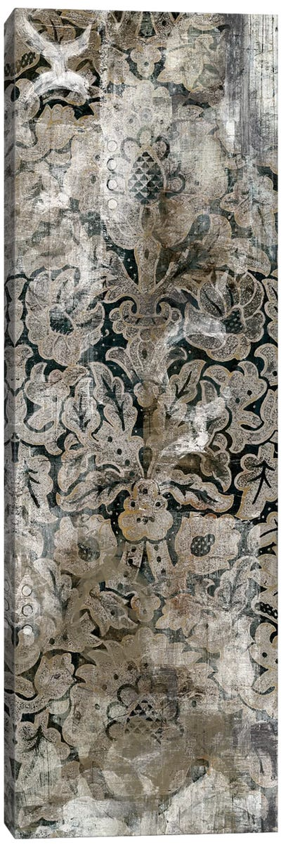 Weathered Damask Panel III Canvas Print #VES206