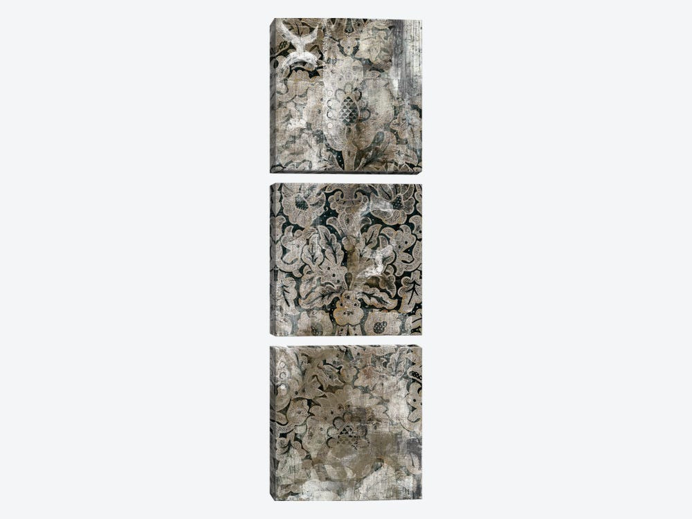 Weathered Damask Panel III by June Erica Vess 3-piece Canvas Art Print