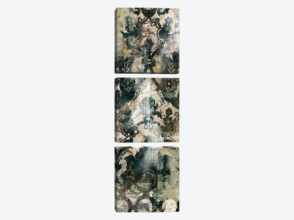 Weathered Damask Panel IV by June Erica Vess 3-piece Canvas Artwork
