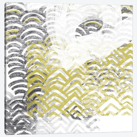 Block Print Abstract VII Canvas Print #VES21} by June Erica Vess Canvas Artwork