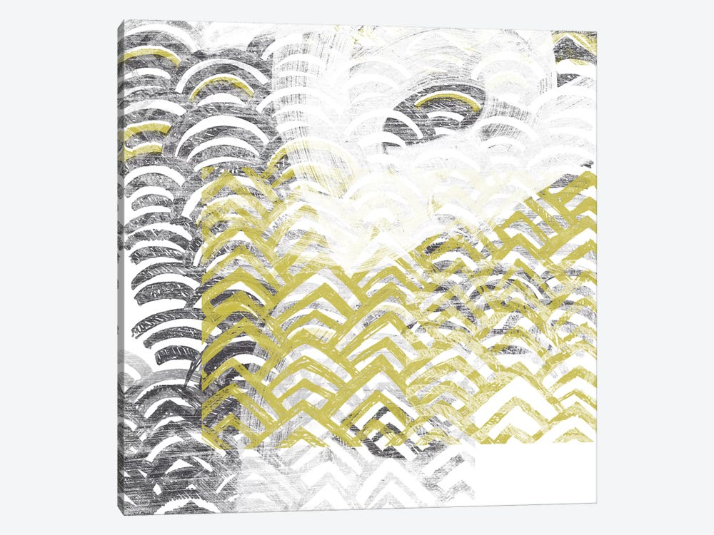 Block Print Abstract VII by June Erica Vess 1-piece Canvas Print