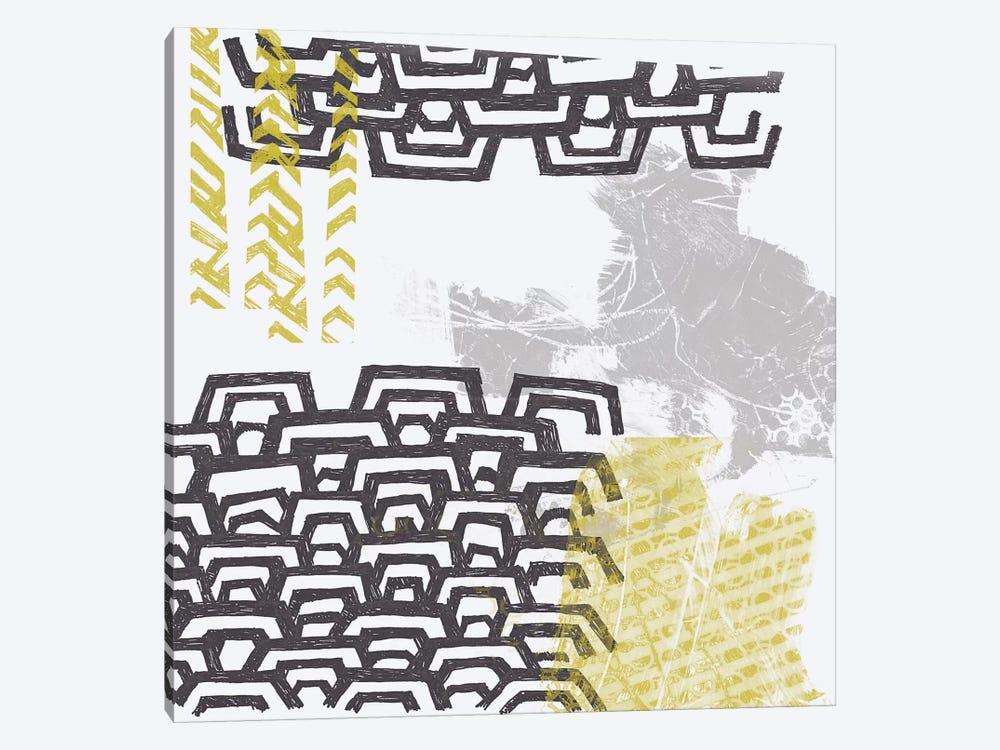 Block Print Abstract VIII by June Erica Vess 1-piece Canvas Art