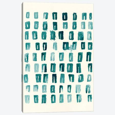 Blue Batik Motif II Canvas Print #VES27} by June Erica Vess Canvas Print