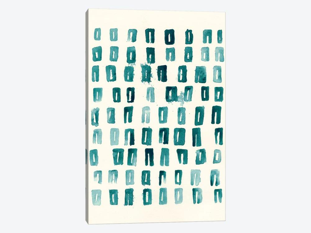 Blue Batik Motif II by June Erica Vess 1-piece Canvas Print