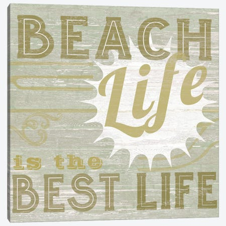A Little Beachy II Canvas Print #VES2} by June Erica Vess Canvas Art Print