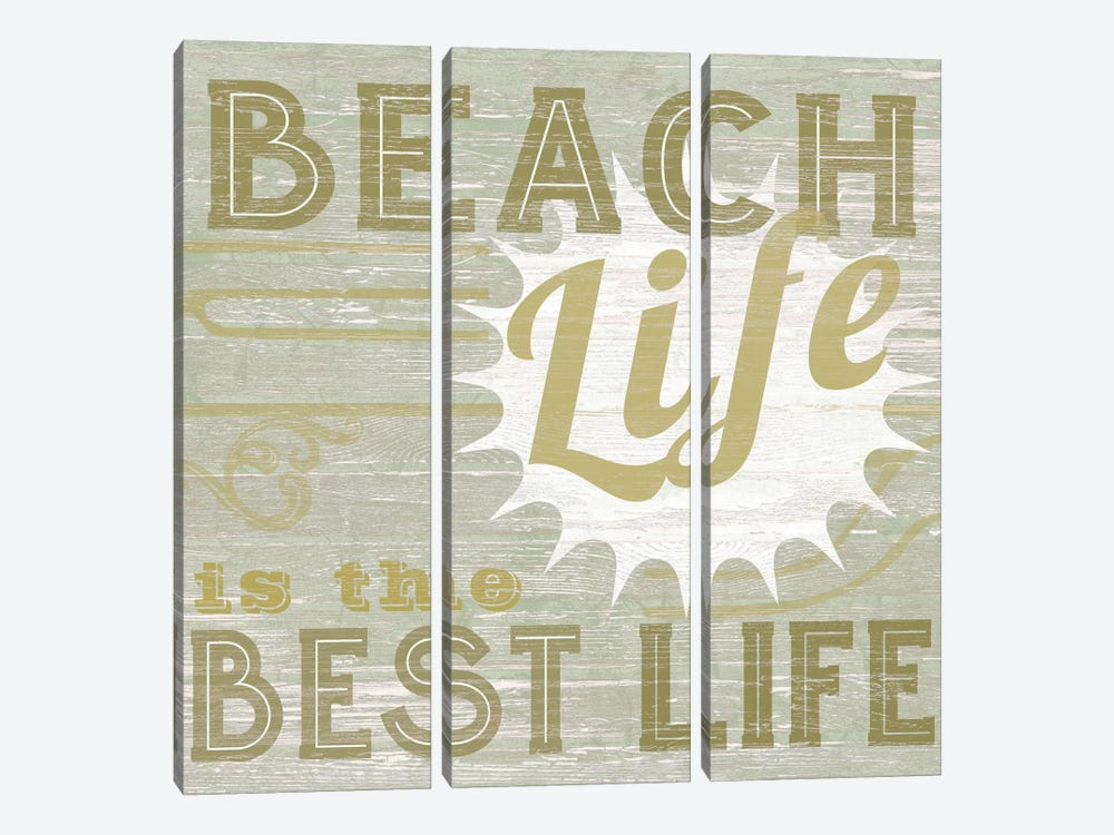 A Little Beachy II by June Erica Vess 3-piece Canvas Artwork