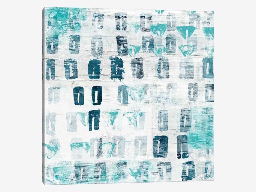 Blue Static III by June Erica Vess 1-piece Canvas Art Print