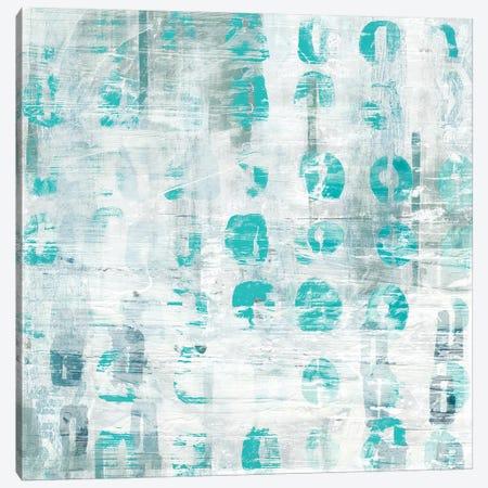 Blue Static IV 3-Piece Canvas #VES33} by June Erica Vess Canvas Print