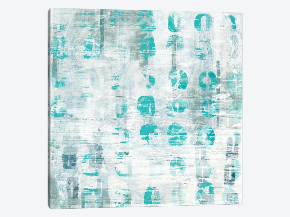 Blue Static IV by June Erica Vess 1-piece Canvas Artwork