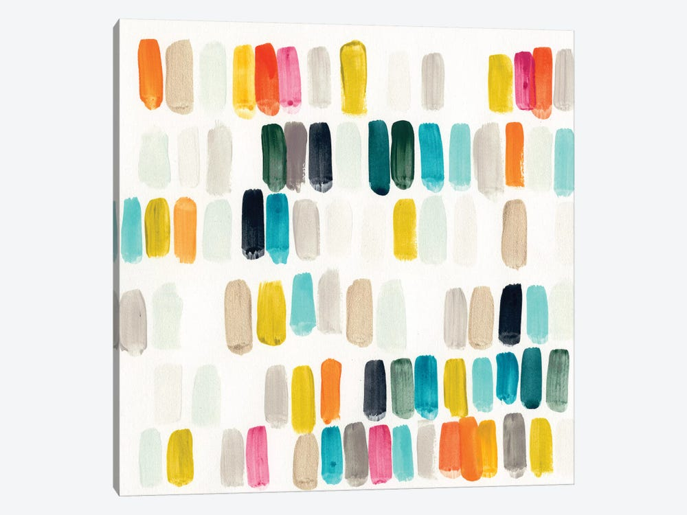Bright Swatches I by June Erica Vess 1-piece Canvas Art