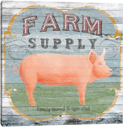 Farm Supply II Canvas Art Print