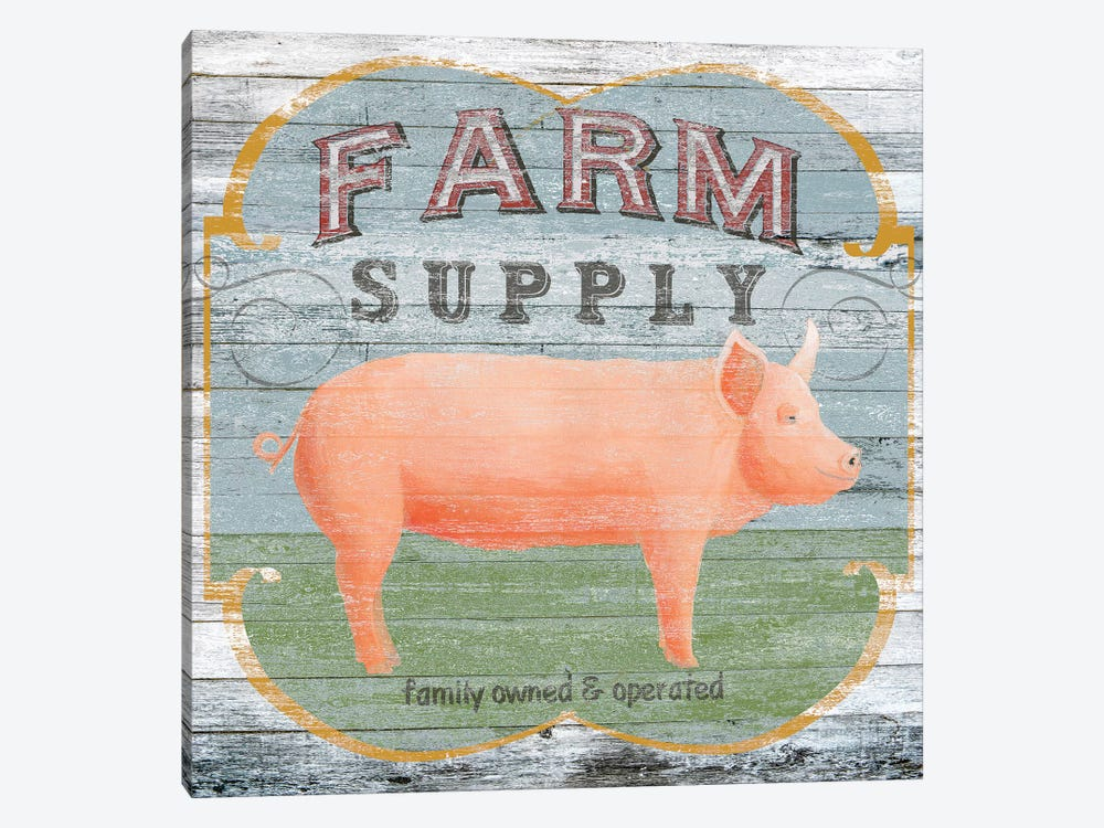 Farm Supply II by June Erica Vess 1-piece Canvas Wall Art