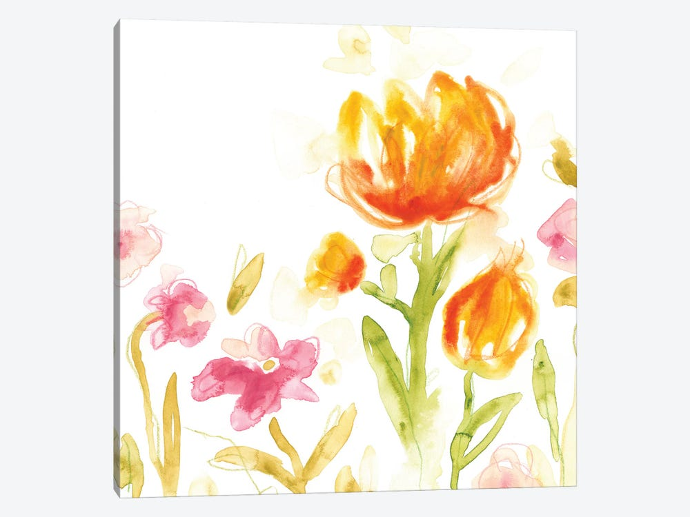 Floral Song II by June Erica Vess 1-piece Canvas Artwork