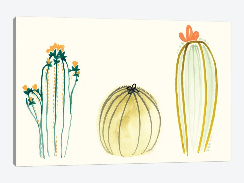 Funky Succulents IV by June Erica Vess 1-piece Canvas Art Print