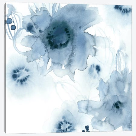 Aquatic Indigo I Canvas Print #VES9} by June Erica Vess Canvas Print