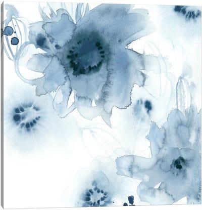 Aquatic Indigo I Canvas Art Print