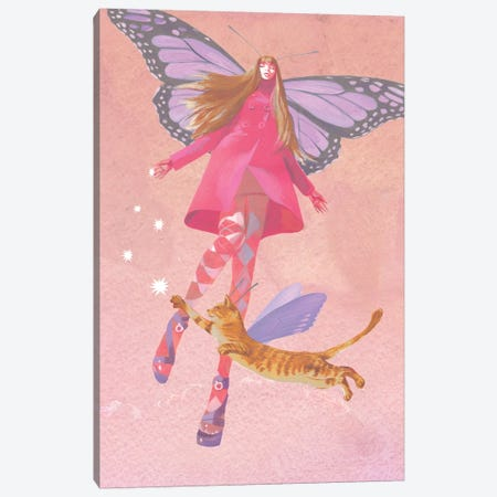 My Colored Dreams Canvas Print #VFO16} by Victoria Fomina Canvas Wall Art
