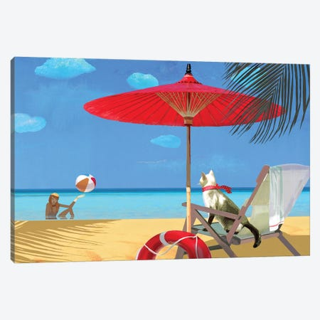 My Lifeguard Canvas Print #VFO17} by Victoria Fomina Canvas Artwork