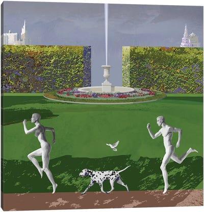 Runners From Eden Canvas Art Print