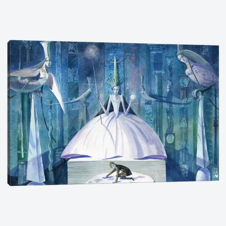 The Snow Queen V Canvas Print #VFO29} by Victoria Fomina Canvas Art