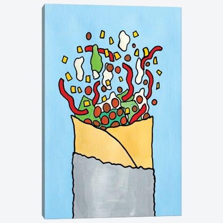 Exploding Burrito Canvas Print #VGG23} by Ian Viggars Art Print