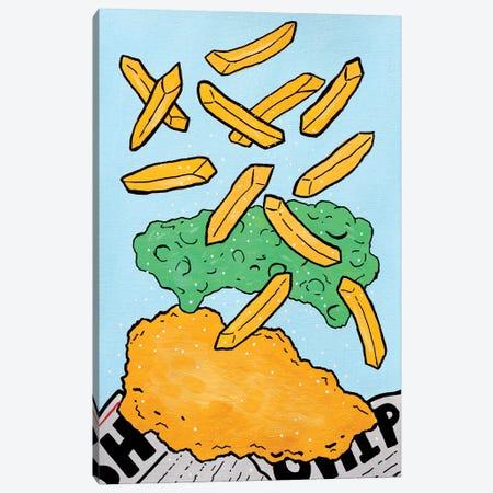 Fish And Chips With Mushy Peas Canvas Print #VGG24} by Ian Viggars Canvas Artwork