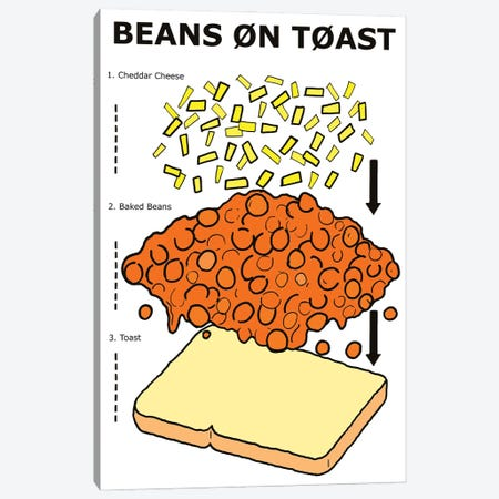 Beans On Toast Instructions Canvas Print #VGG6} by Ian Viggars Canvas Print