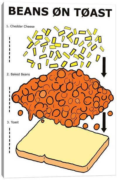Beans On Toast Instructions Canvas Art Print
