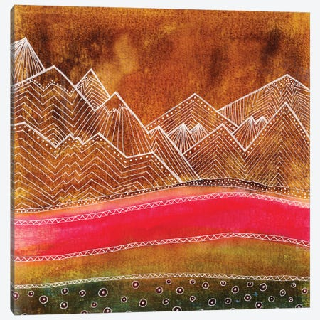 Lines In The Mountains III Canvas Print #VGO100} by Viviana Gonzalez Canvas Artwork