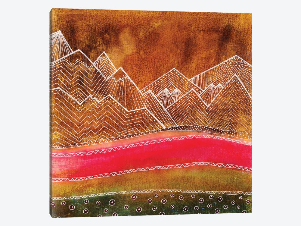 Lines In The Mountains III by Viviana Gonzalez 1-piece Canvas Art Print