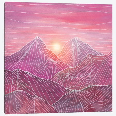 Lines In The Mountains IV Canvas Print #VGO101} by Viviana Gonzalez Canvas Artwork