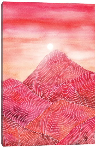 Lines In The Mountains XXIII Canvas Art Print
