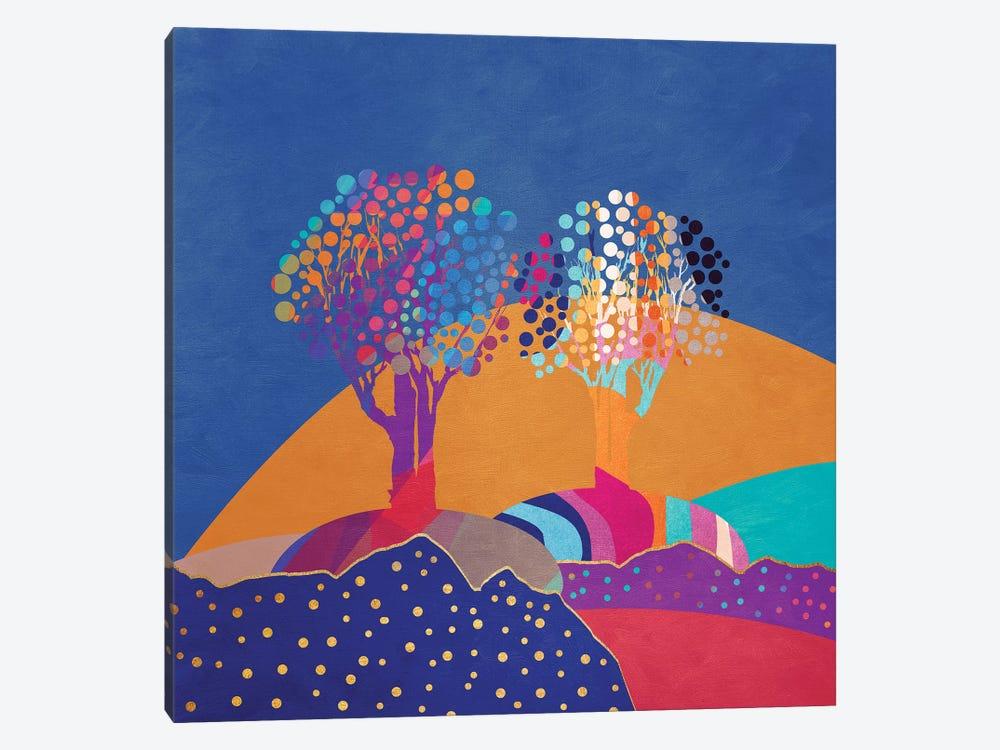 Retro Trees II by Viviana Gonzalez 1-piece Canvas Artwork
