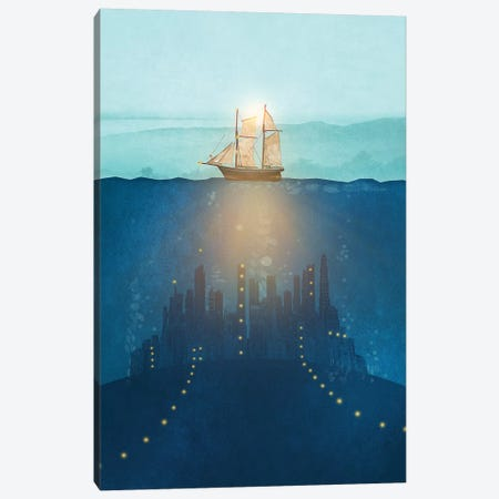 The Underwater City Canvas Print #VGO109} by Viviana Gonzalez Canvas Artwork
