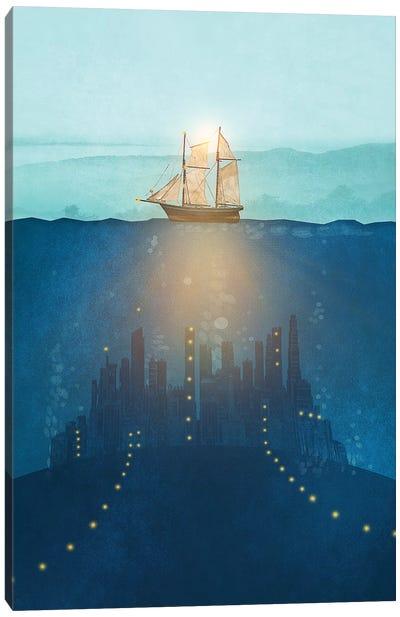 The Underwater City Canvas Art Print
