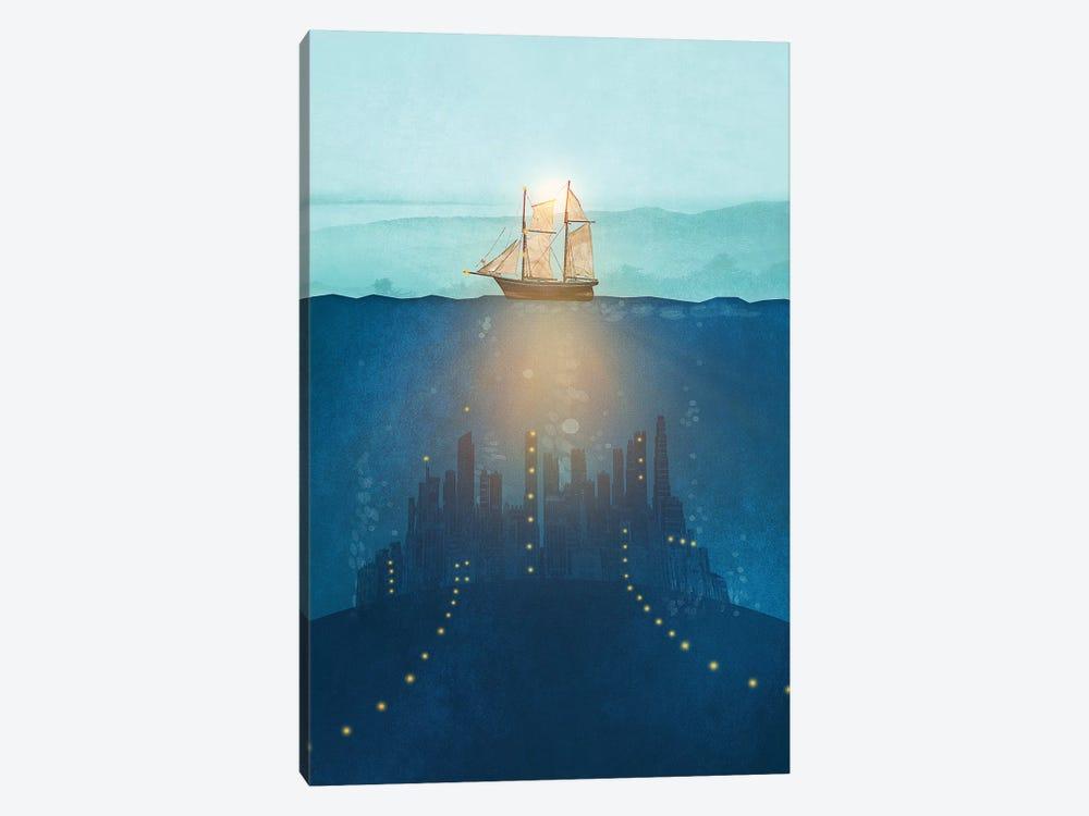 The Underwater City by Viviana Gonzalez 1-piece Canvas Wall Art