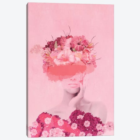 Woman In Flowers I Canvas Print #VGO112} by Viviana Gonzalez Canvas Art Print