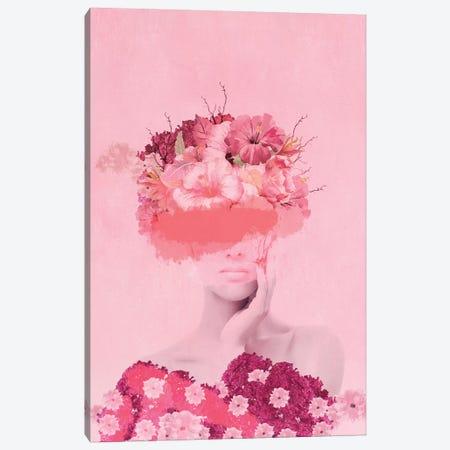 Woman In Flowers I 3-Piece Canvas #VGO112} by Viviana Gonzalez Canvas Art Print