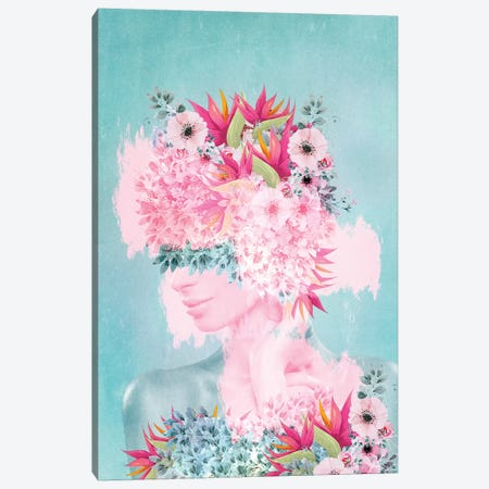 Woman In Flowers II Canvas Print #VGO113} by Viviana Gonzalez Canvas Art Print