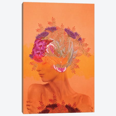 Woman In Flowers III Canvas Print #VGO114} by Viviana Gonzalez Canvas Artwork