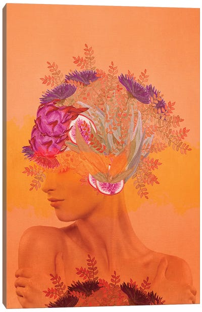Woman In Flowers III Canvas Art Print