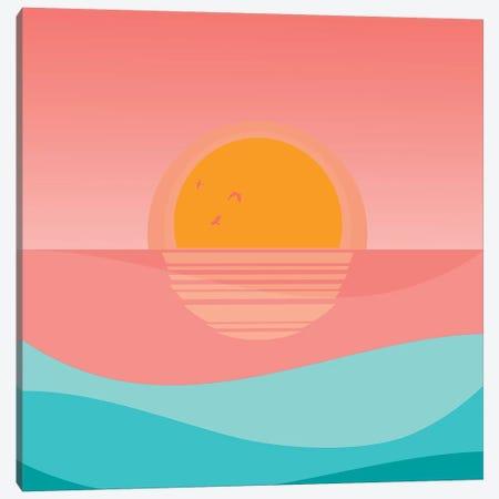 Minimal Sunset I 3-Piece Canvas #VGO118} by Viviana Gonzalez Canvas Print