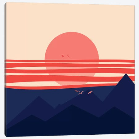 Minimal Sunset IV Canvas Print #VGO119} by Viviana Gonzalez Canvas Art Print