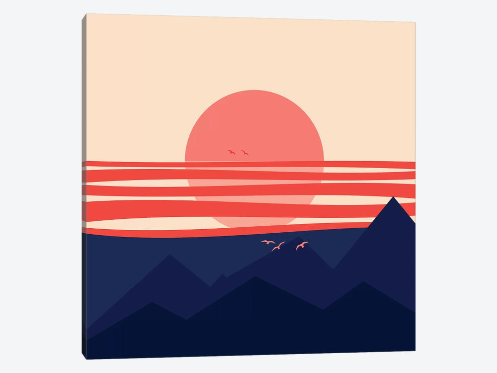 Minimal Sunset IV 1-piece Art Print
