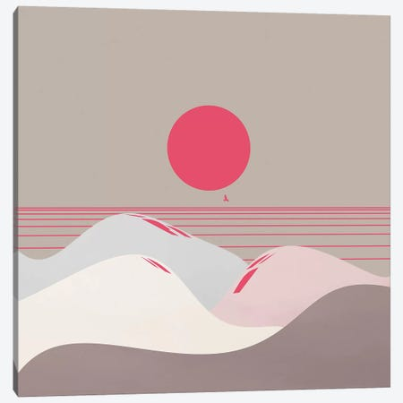 Minimal Sunset IX Canvas Print #VGO120} by Viviana Gonzalez Canvas Wall Art
