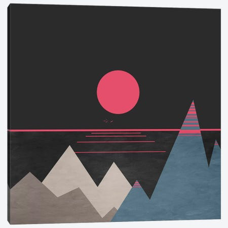Minimal Sunset X Canvas Print #VGO121} by Viviana Gonzalez Canvas Wall Art
