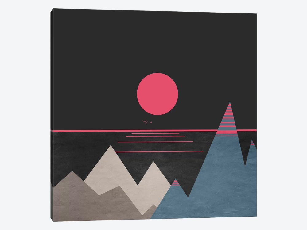 Minimal Sunset X 1-piece Canvas Wall Art