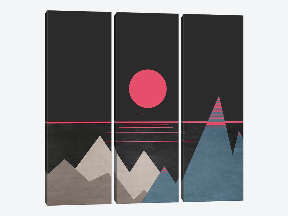 Minimal Sunset X 3-piece Canvas Artwork