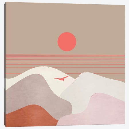 Minimal Sunset XI Canvas Print #VGO122} by Viviana Gonzalez Canvas Art