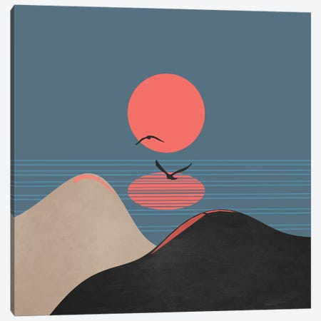 Minimal Sunset XII Canvas Print #VGO123} by Viviana Gonzalez Canvas Artwork